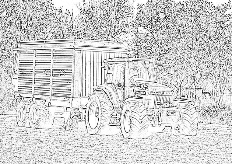 Afbeelding Tractor John Deere Kleurplaat Schuitemaker Kleurplaat Loonbedrijf G D De Vries